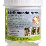 NatuVet Sensitiv 100% naturreines Grünlippmuschel-Pulver 500g (Perna Canaliculus) mit Dosierlöffel 1g